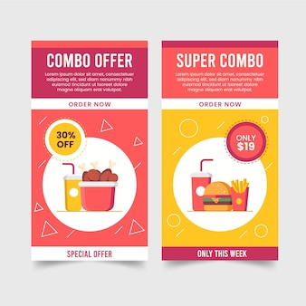 Combo offers banners pack