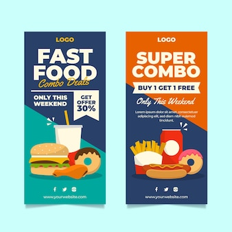 Combo offers banners set template