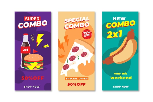 Combo offers banners set