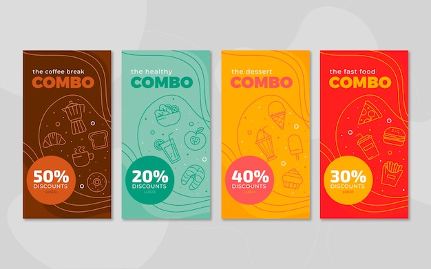 Combo offers banners template design