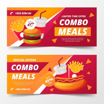 Combo offers banners template
