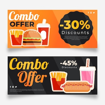 Combo offers - banners with discount