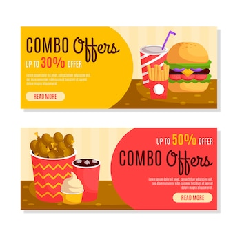 Combo offers horizontal banners
