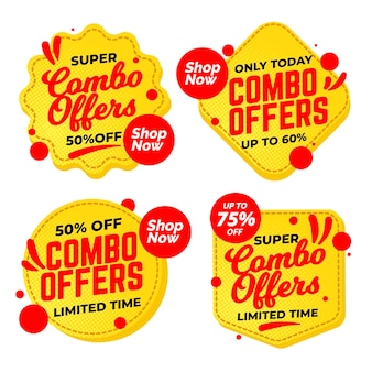 Combo offers label collection