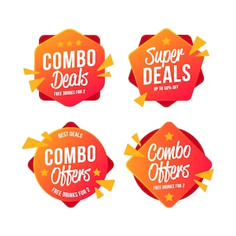 Combo offers label pack