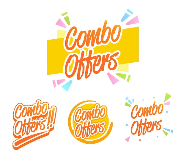 Combo offers labels collection