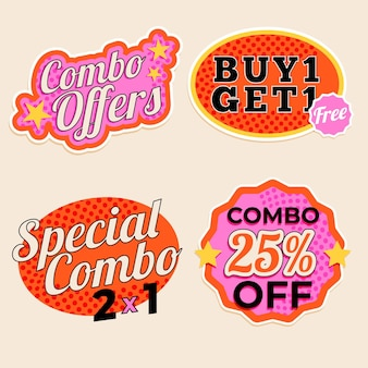 Combo offers - labels collection