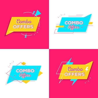 Combo offers - labels concept