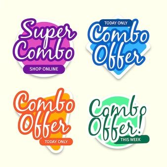 Combo offers labels concept