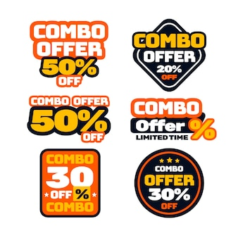 Combo offers labels pack template