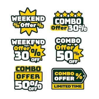 Combo offers labels pack