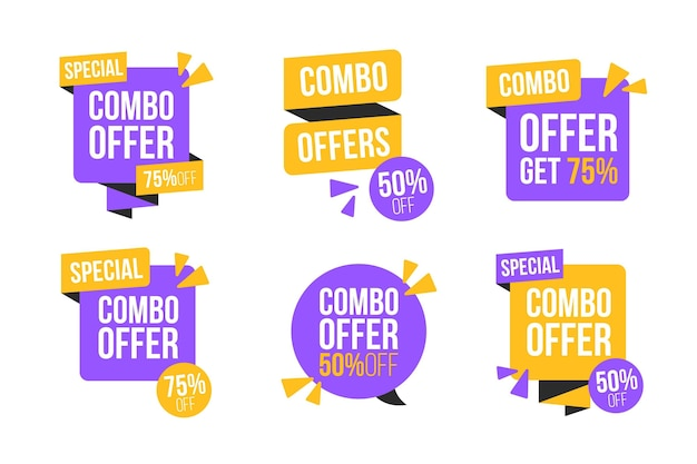 Combo offers labels set