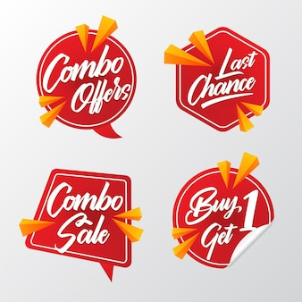 Combo offers labels