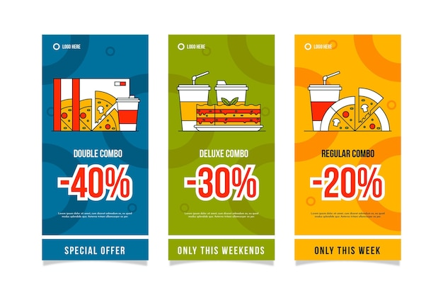 Combo offers vertical banners