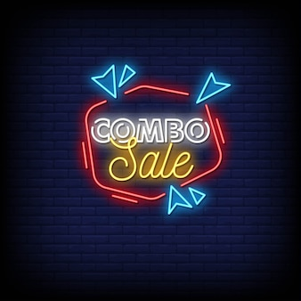 Combo sale neon signs style text