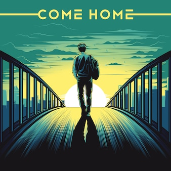 Come home illustration