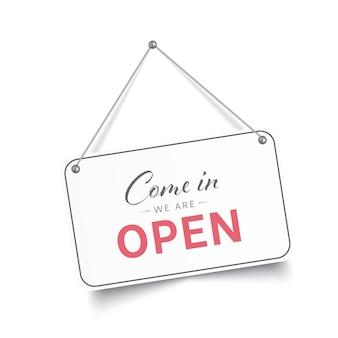 入って来てオープンサインです
