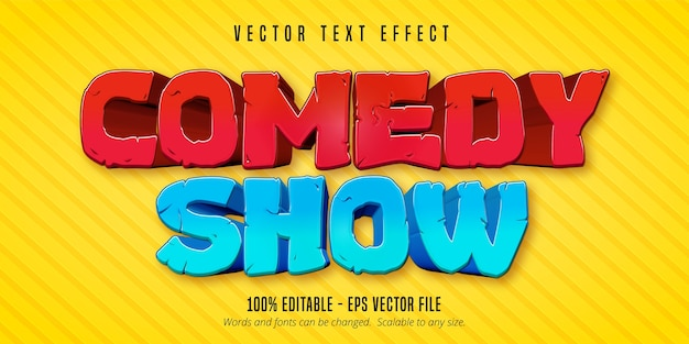 Comedy show text, comic style editable text effect