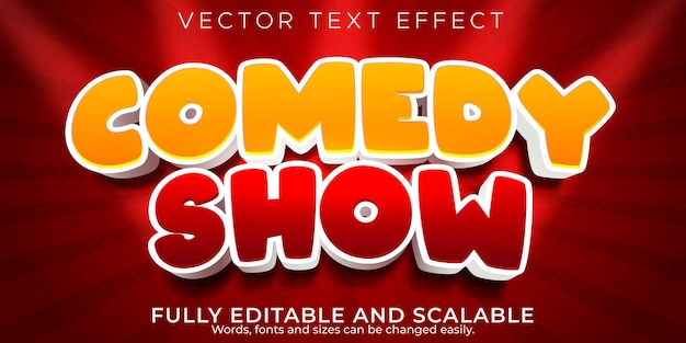 Comedy show text effect editable funny and comic text style