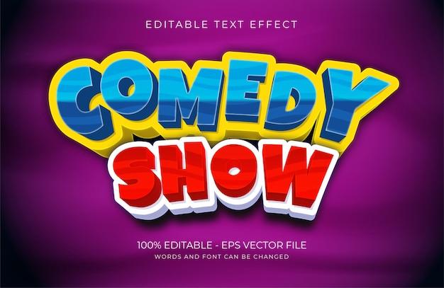 Текстовый эффект комедийного шоу premium векторы