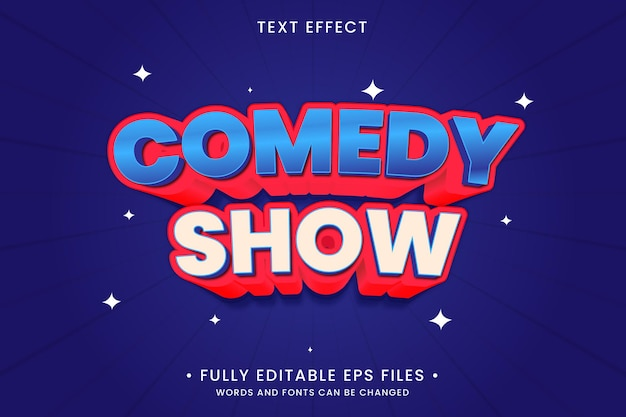 Comedy show text effect