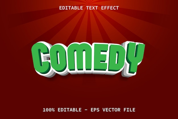 Comedy with cartoon style editable text effect