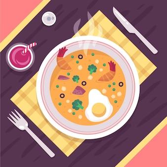 Концепция коллекции продуктов питания comfort