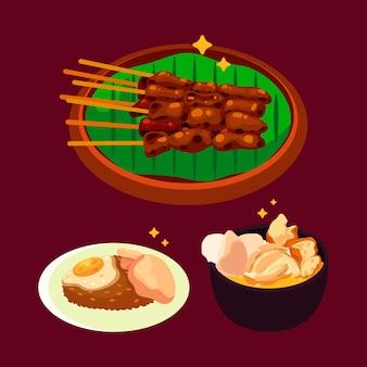Иллюстрация пакета еды комфорта