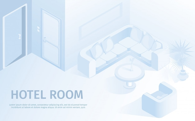 Comfortable hotel apartment vector illustration