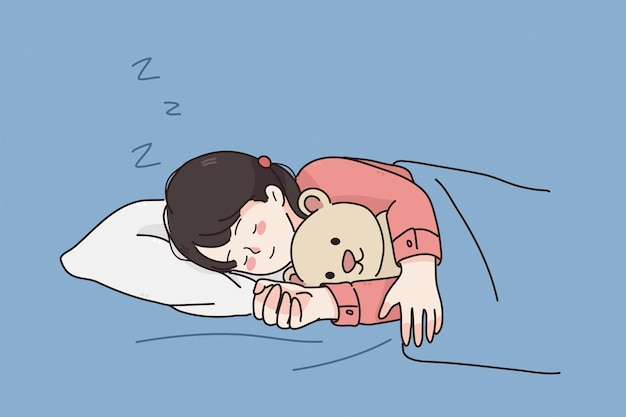 Comfortable rest sleep during night concept