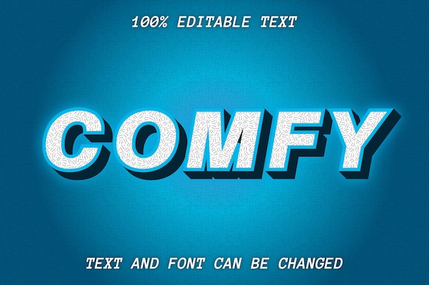 Comfy editable text effect modern style
