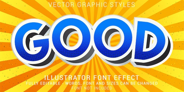 Comic 3d graphic styles editable text effect