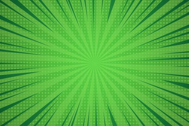 放射状の光線とハーフトーンコミック抽象的な青い背景