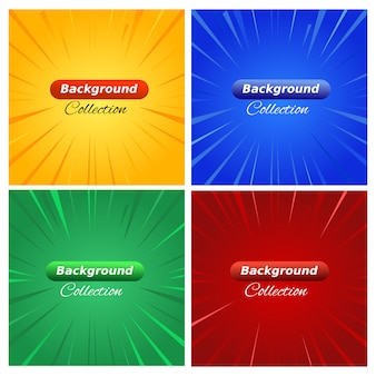 Comic background banner effect collection for poster