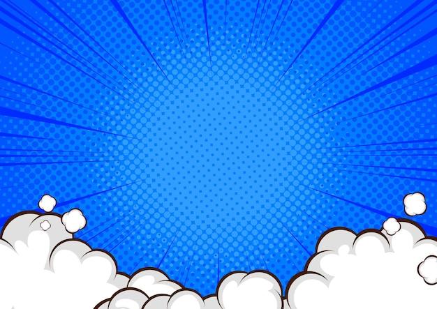 Комикс фон дизайн поп-арт иллюстрации. Premium векторы