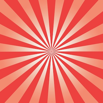 Comic background. red sunburst pattern. vector illustration.