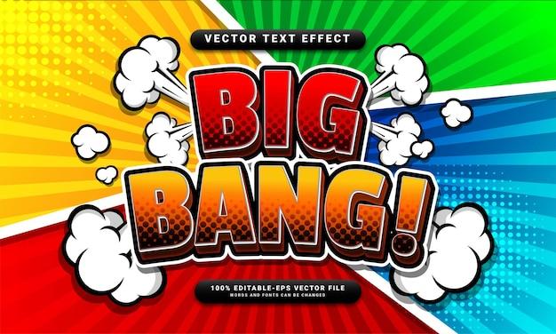 Редактируемый текстовый эффект комиксов большого взрыва подходит для концепции мультяшного стиля