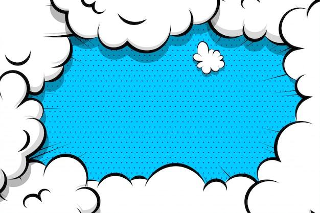 Comic book cartoon speech bubble for text