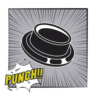 Comic book explosion pop art cartoon in black and white