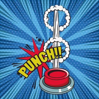 Comic book explosion pop art cartoon