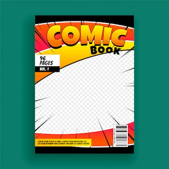 Comic Book Magazine Cover Page Design Template Vector Free