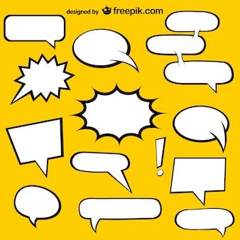 Комиксов речи пузыри свободных элементов