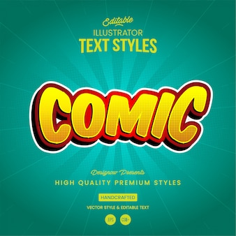 Comic book text style