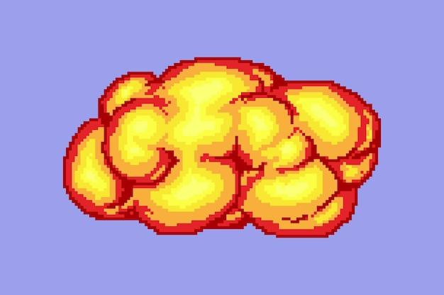 Comic boom flame bang burst explode dynamite with smoke lit match and bonfire digital icons