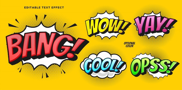 Comic bubble text style effect