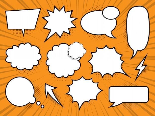 Comic bubbles speech set