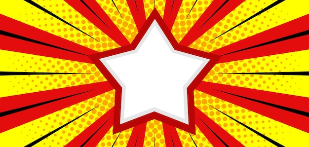 Comic burst background with star