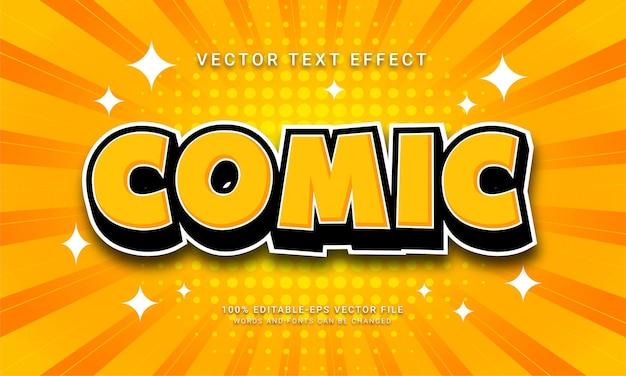 Comic cartoon 3d text style effect