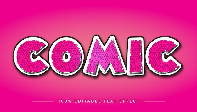 Comic cartoon text effect
