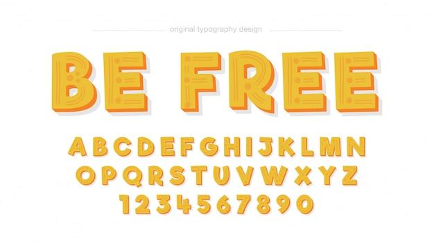 Comic cartoon yellow typography